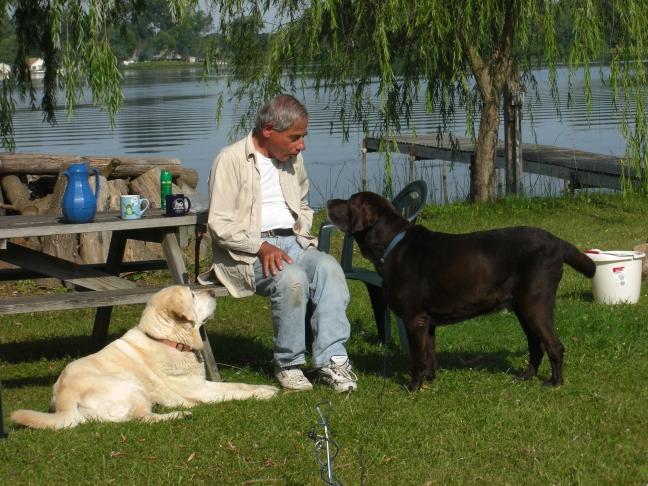 2011-08-12 Spring visit family at cottage hunt cranes sunset 311